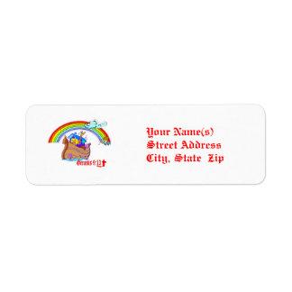 Noah's Ark Return Address Label