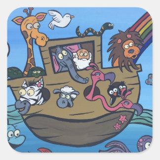 Noah s Ark Square Sticker