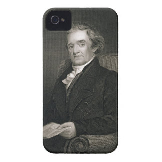 Noah Webster (1758-1843) engraved by Frederick W. iPhone 4 Cover