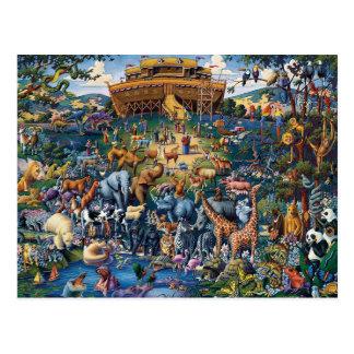 Noah's Animal Ark Art Postcard