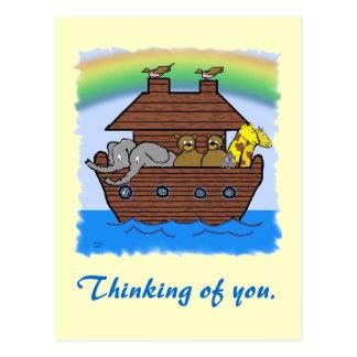 Noahs Arc _ Thinking of you card. Postcard