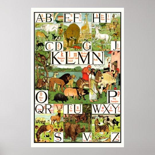 Noahs ark Alphabet ABC Posters for classrooms