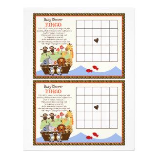 """Noah's Ark/Animal Pairs """"Baby Shower Bingo"""" sheet"""