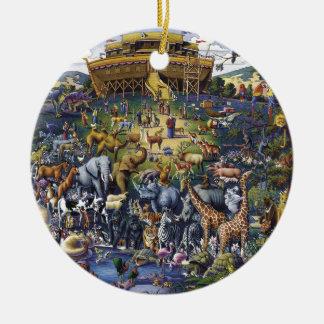 Noahs Ark Animals Ceramic Ornament