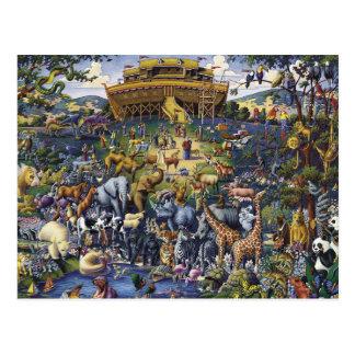Noahs Ark Animals Postcard