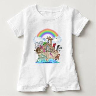 Noah's Ark baby animals romper unisex Baby Bodysuit