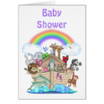 Noah's Ark Baby Shower Invitation Cards