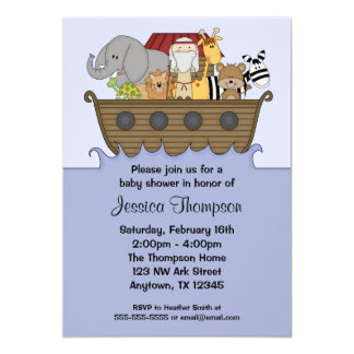 Noah's Ark Baby Shower Invitations