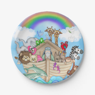Noah's Ark Baby Shower Paper Plates