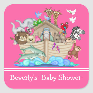 Noah's Ark Baby Shower Sticker