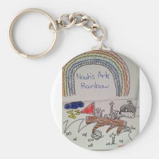 Noah's Ark Basic Round Button Key Ring