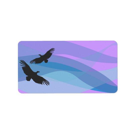 Noah's Ark Birds Print Your Address Labels Sticker