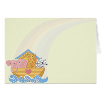 Noah's Ark Birth Announcement Notecards