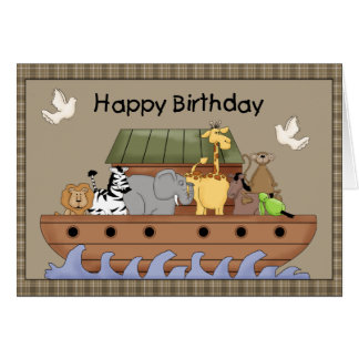 Noah's Ark Birthday Greeting Card