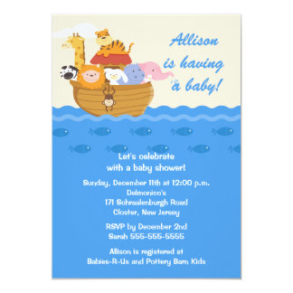 Noah's Ark Boy or Girl Baby Shower Card