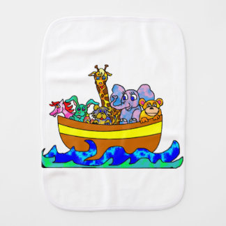 Noah's Ark Burp Cloth