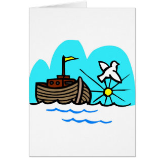 Noah's ark Christian artwork_1 Card