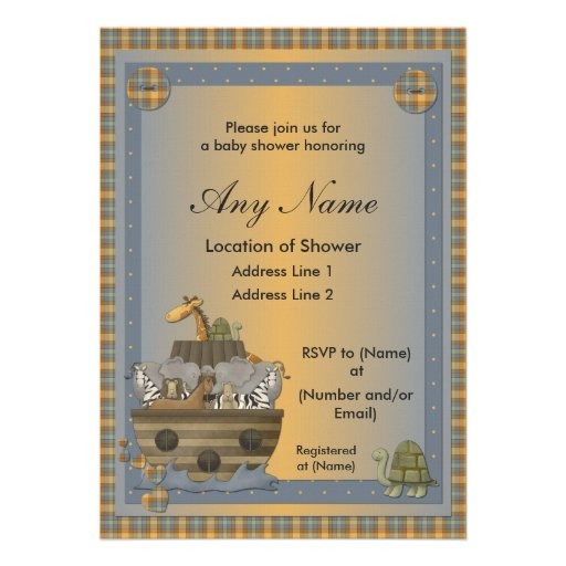 Noah's Ark Christian Baby Shower Invitations