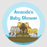 Noah's Ark Circle Label Round Stickers