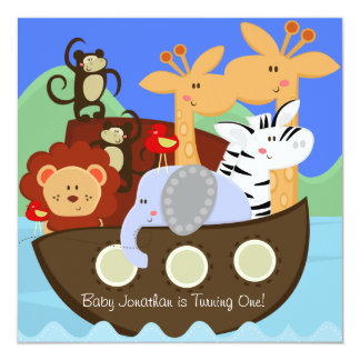 Noah's Ark Customized Birthday Invitations