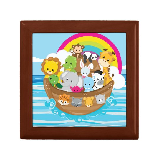 Noahs Ark Cute Animals Toddlers Fun Design Gift Box