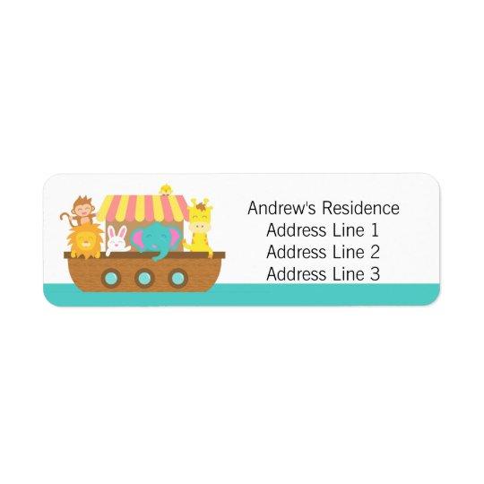 Noah's Ark, Cute Baby Shower return address labels