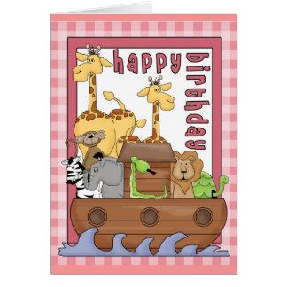 Noah's Ark Happy Birthday Card
