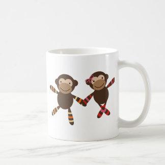 Noah's Ark monkey Couple in love holding hands Coffee Mug
