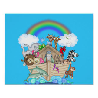 NOAHS ARK NURSERY DECORATION Poster