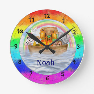 Noah's Ark Personalized Wall Clock