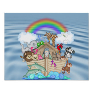 NOAHS ARK Rainbow NURSERY DECORATION MURAL
