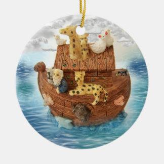 Noah's Ark Round Ceramic Decoration