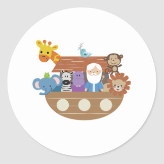Noah's Ark Round Stickers