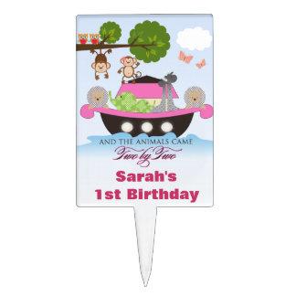Noah's Ark Sets Sail Cupcake Topper Cake Pick