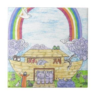 Noah's Ark Small Square Tile