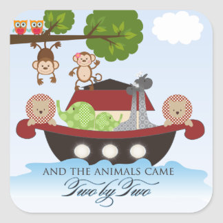 Noahs Ark Stickers - Square