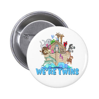 Noah's Ark We're Twins Buttons