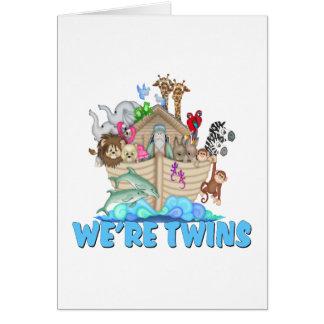 Noah's Ark We're Twins Cards