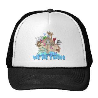 Noah's Ark We're Twins Trucker Hats