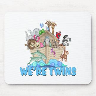 Noah's Ark We're Twins Mouse Pad