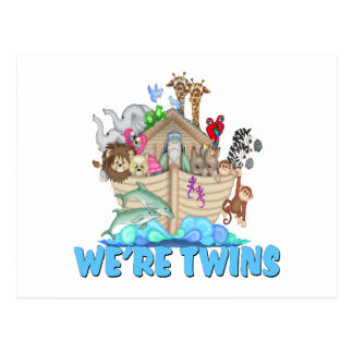 Noah's Ark We're Twins Post Card