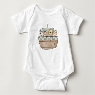 Noah's Ark with Animals  Baby Bodysuit