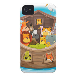 Noah's Ark With Jungle Animals Case-Mate iPhone 4 Cases