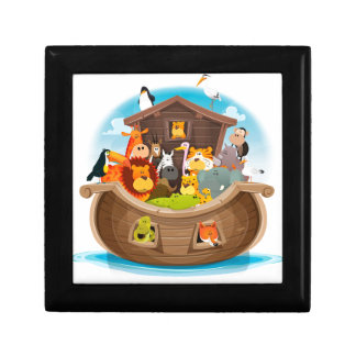 Noah's Ark With Jungle Animals Gift Box