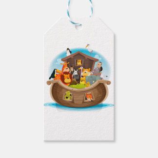 Noah's Ark With Jungle Animals Gift Tags