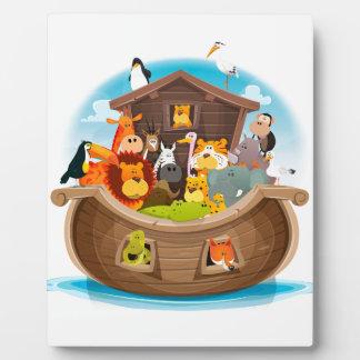 Noah's Ark With Jungle Animals Plaque
