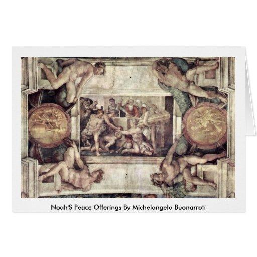 Noah'S Peace Offerings By Michelangelo Buonarroti Greeting Card