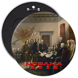 Nobama 2012 6 cm round badge