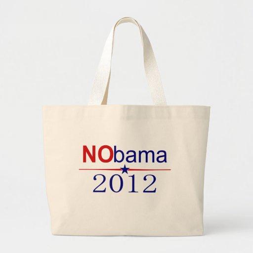 NObama 2012 election Canvas Bags