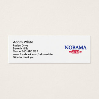 Nobama 2012 election mini business card